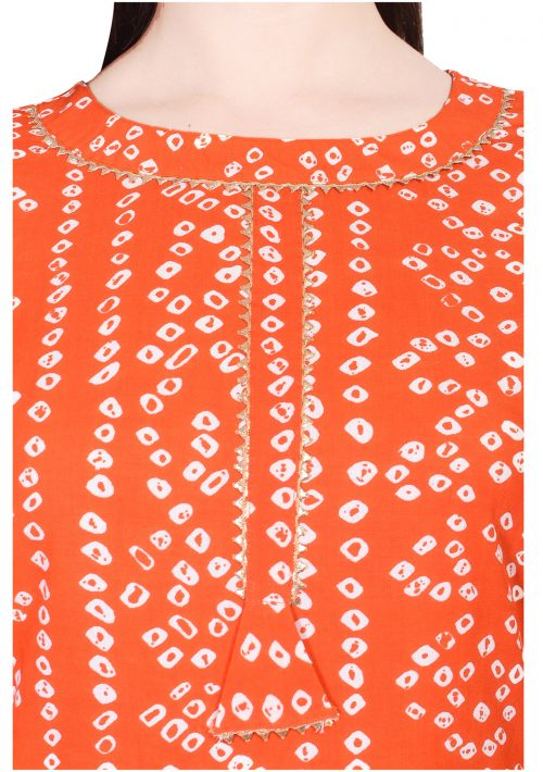 Orange Kurta Set with Sharara and Dupatta